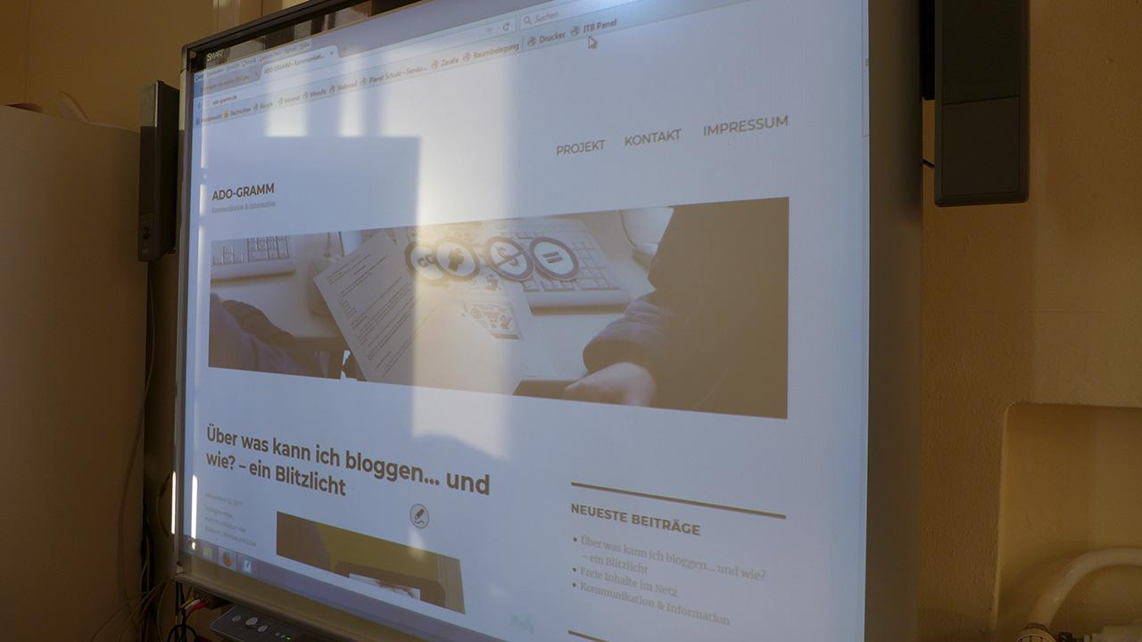 Unser Blog, schulkunft.de, smartboard